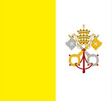 flag of Vatican by tony4urban