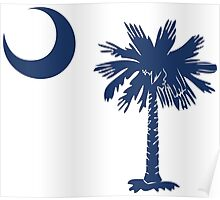 Blue Palmetto Moon Poster