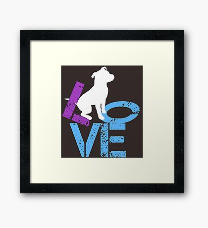 Love for Dogs Framed Print