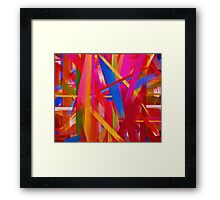 Paint Color Splatter Brush Stroke #8 Framed Print