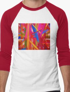 Paint Color Splatter Brush Stroke #8 Men's Baseball ¾ T-Shirt
