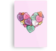 Candy Hearts - Internet Edition Metal Print