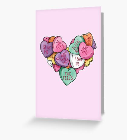 Candy Hearts - Internet Edition Greeting Card