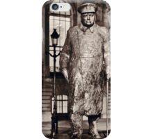 Sir Winston Churchill statue at Petite Palais in Paris iPhone Case/Skin