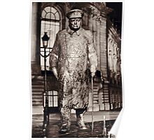 Sir Winston Churchill statue at Petite Palais in Paris Poster