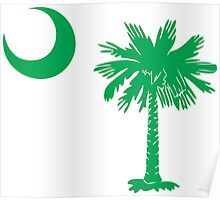 Green Palmetto Moon Poster