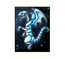 The Blue-Eyes White Dragon Art Print