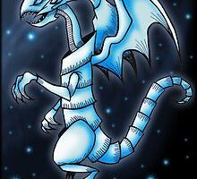 The Blue-Eyes White Dragon by Bammelsan