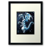 The Blue-Eyes White Dragon Framed Print