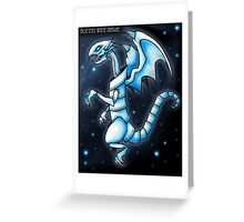 The Blue-Eyes White Dragon Greeting Card