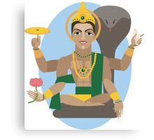illustration of Hindu deity lord Vishnu Canvas Print
