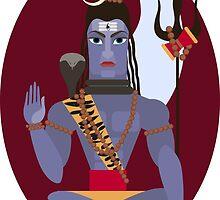 illustration of Hindu deity lord Shiva by OlgaBerlet