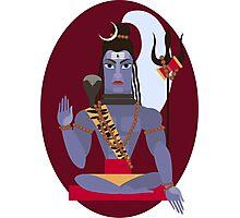 illustration of Hindu deity lord Shiva Photographic Print