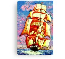 The Clipper Ship Golden State Leaving Gibraltar Canvas Print