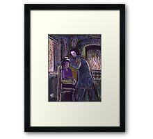 The phrenologist Framed Print