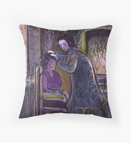 The phrenologist Throw Pillow