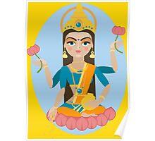 illustration of Hindu deity mother Lakshmi Poster