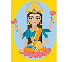 illustration of Hindu deity mother Lakshmi Photographic Print