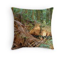 Monster in the Woods Throw Pillow