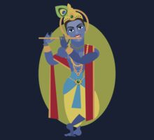 illustration of Hindu deity Lord Krishna flute Kids Clothes