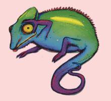 Rainbow Chameleon Kids Clothes