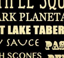 Salt Lake City Utah Famous Landmarks Sticker