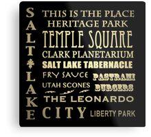 Salt Lake City Utah Famous Landmarks Metal Print
