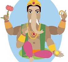 illustration of statue  Lord Ganesha   by OlgaBerlet