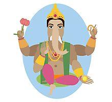 illustration of statue  Lord Ganesha   Photographic Print