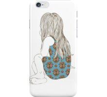Little girl in a dress sitting back hair iPhone Case/Skin
