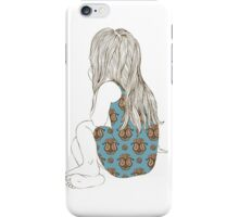 Little girl in a dress sitting back hair iPhone Case/Skin