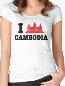 I Angkor (Love) Cambodia Women's Fitted Scoop T-Shirt