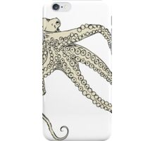Vector illustration of hand drawn with octopus iPhone Case/Skin