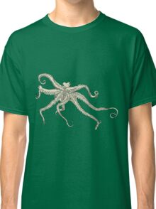 Vector illustration of hand drawn with octopus Classic T-Shirt