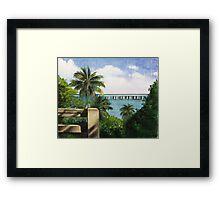 bahia honda Framed Print