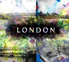 London Skyline View Collage  by zenbear