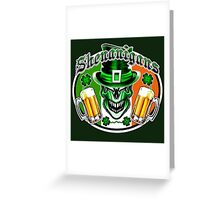 Leprechaun Skull 3 Greeting Card