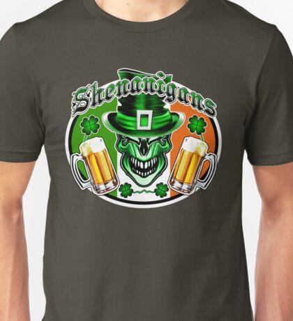 Leprechaun Skull 3 Unisex T-Shirt