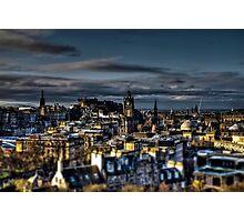 Edinburgh Tiltshift Photographic Print