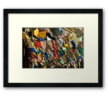 Flags in the Wind Framed Print