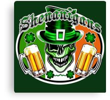 Irish Leprechaun Skull 2: Shenanigans Canvas Print