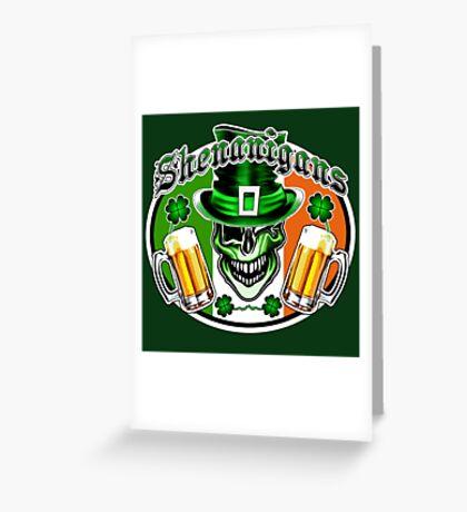 Irish Leprechaun Skull 2: Shenanigans Greeting Card