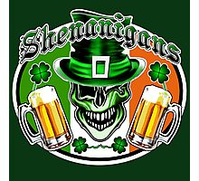 Irish Leprechaun Skull 2: Shenanigans Photographic Print