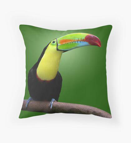 TOUCAN - HONDURAS Throw Pillow