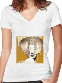 Mme. Women's Fitted V-Neck T-Shirt