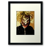 The Clown Prince Selfie Framed Print