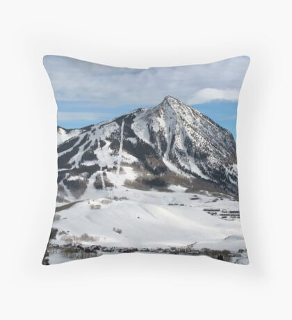 Mt. Crested Butte Throw Pillow