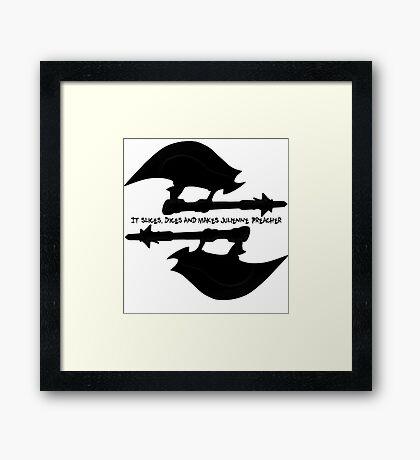 Scythe (x2) - Buffy - Julienne Preacher Black Framed Print