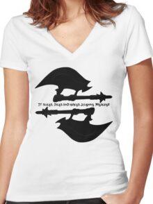 Scythe (x2) - Buffy - Julienne Preacher Black Women's Fitted V-Neck T-Shirt