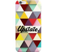 Upstate Supply Co- Multicolored Triangles with logo iPhone Case/Skin